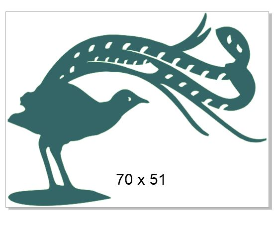 Lyre bird pack of 10 Chipboard Acrylic packs of 5 Use drop down